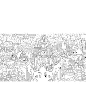 FAO Schwarz - Oversize Coloring Poster - Ages 3+