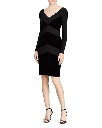 Ralph Lauren - Velvet Chevron Jersey Dress