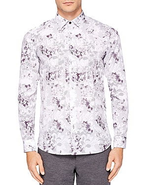 Ted Baker Konkord Flower Print Regular Fit Button-Down Shirt