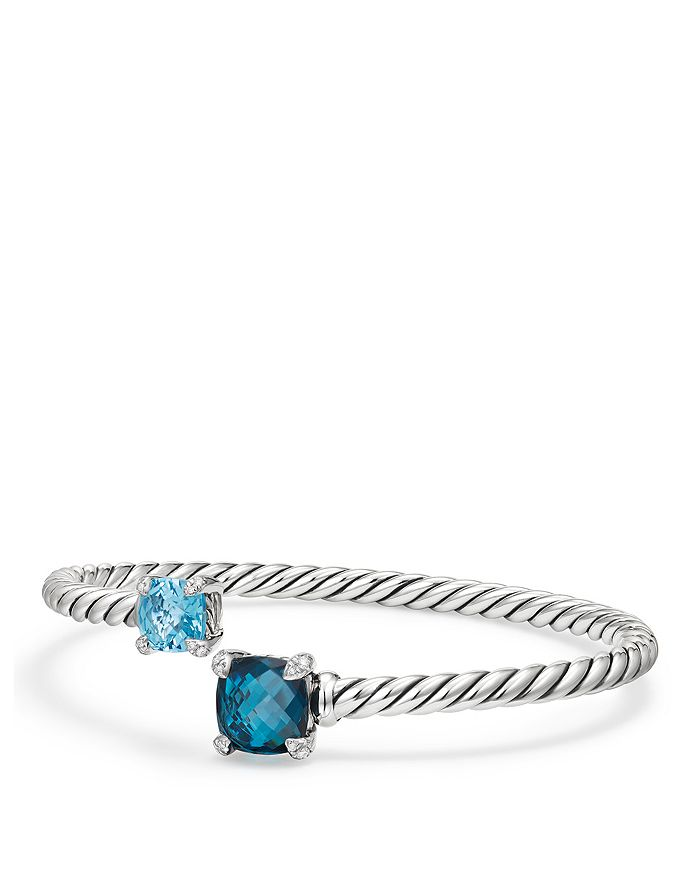 David Yurman - Châtelaine Bypass Bracelet with Gemstones & Diamonds