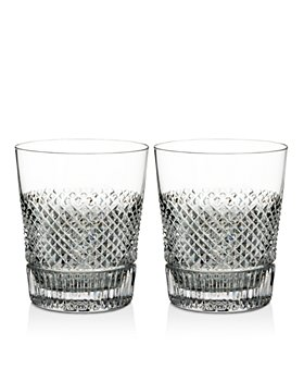 Waterford - Diamond Line Double Old Fashioned Glasses, Set of 2