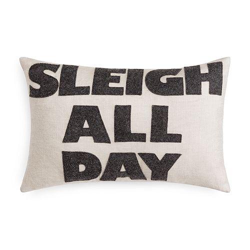 "Alexandra Ferguson - Sleigh All Day Decorative Pillow, 12"" x 18"" - 100% Exclusive"