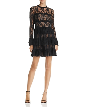 Bailey 44 Feeding Circle Ruffled Lace Dress