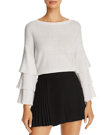 Alice and Olivia - Stora Ruffle-Sleeve Merino Wool Sweater