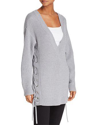 rag & bone/JEAN - Lace-Up Oversized Merino Wool Sweater