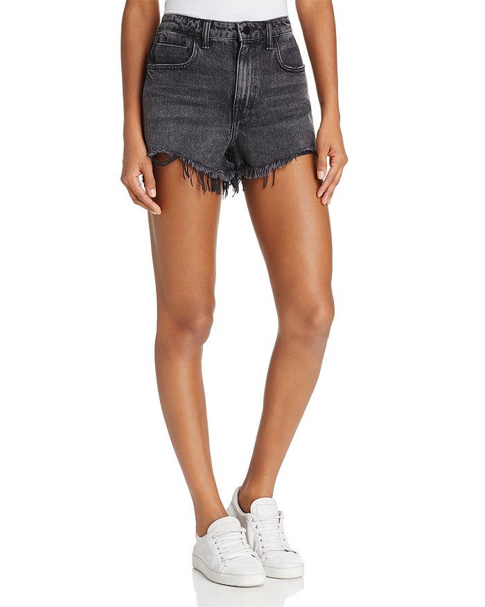 alexanderwang.t - Bite Cut-Off Shorts in Grey Aged