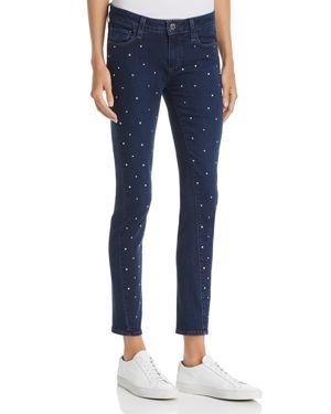Paige Verdugo Embellished Ultra-Skinny Jeans in Indigo Krystal 2743230