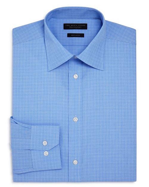 The Men's Store at Bloomingdale's - Mini Glen Plaid Regular Fit Dress Shirt - 100% Exclusive