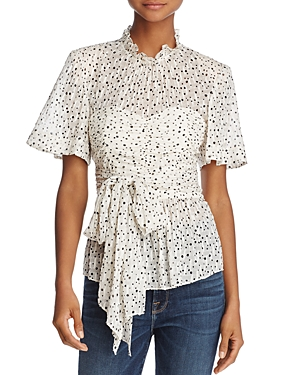 Rebecca Taylor Star Print Tied Top