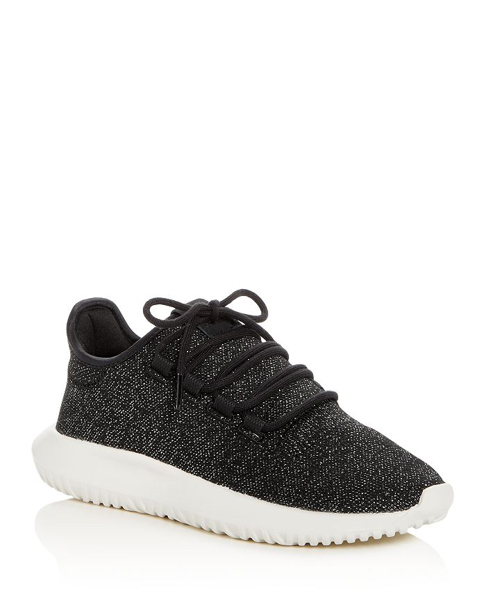 Adidas Women s Tubular Shadow Glitter Knit Lace Up Sneakers ... d0e003d5b8