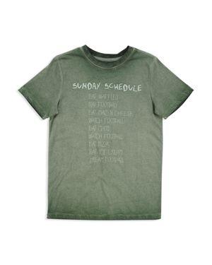 Butter Boys' Mineral-Wash Sunday Football Schedule Tee - Big Kid thumbnail