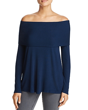 Three Dots Off-The-Shoulder Swing Top
