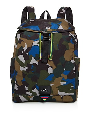 Ps Paul Smith Canvas Camo Print Backpack
