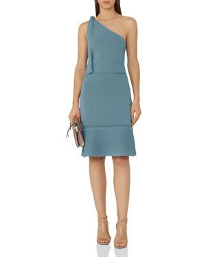 Reiss Beatrice Openwork-Detail One-Shoulder Dress