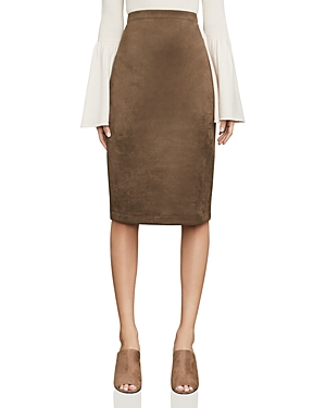 Bcbgmaxazria Lyric Faux Suede Pencil Skirt