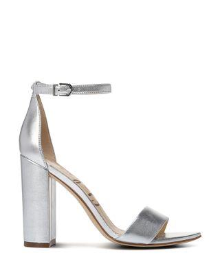 Silver Block Heels - Bloomingdale's