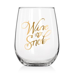Easy Tiger Wine Snob Stemless Wine Glass - Bloomingdale's_0