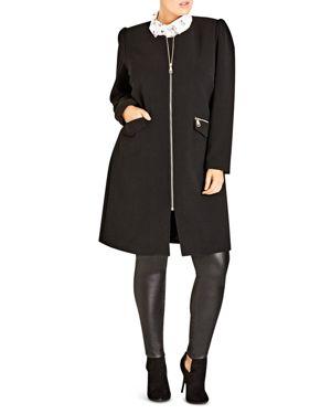 City Chic Simple Elegance Coat