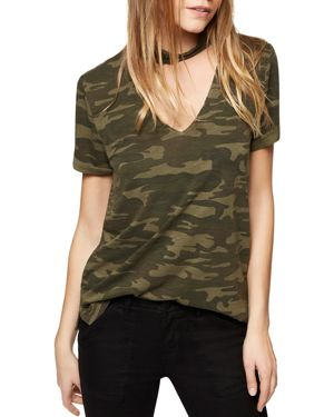 Sanctuary Camouflage Choker-Neck Tee - 100% Exclusive