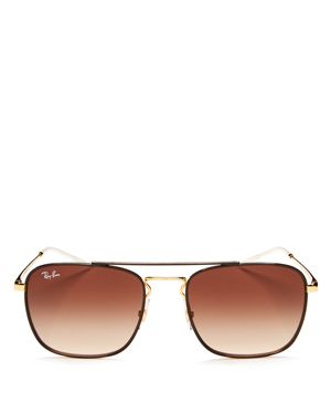 Ray-Ban Brow Bar Square Sunglasses, 55mm