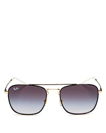 Ray-Ban - Unisex Brow Bar Square Sunglasses, 55mm