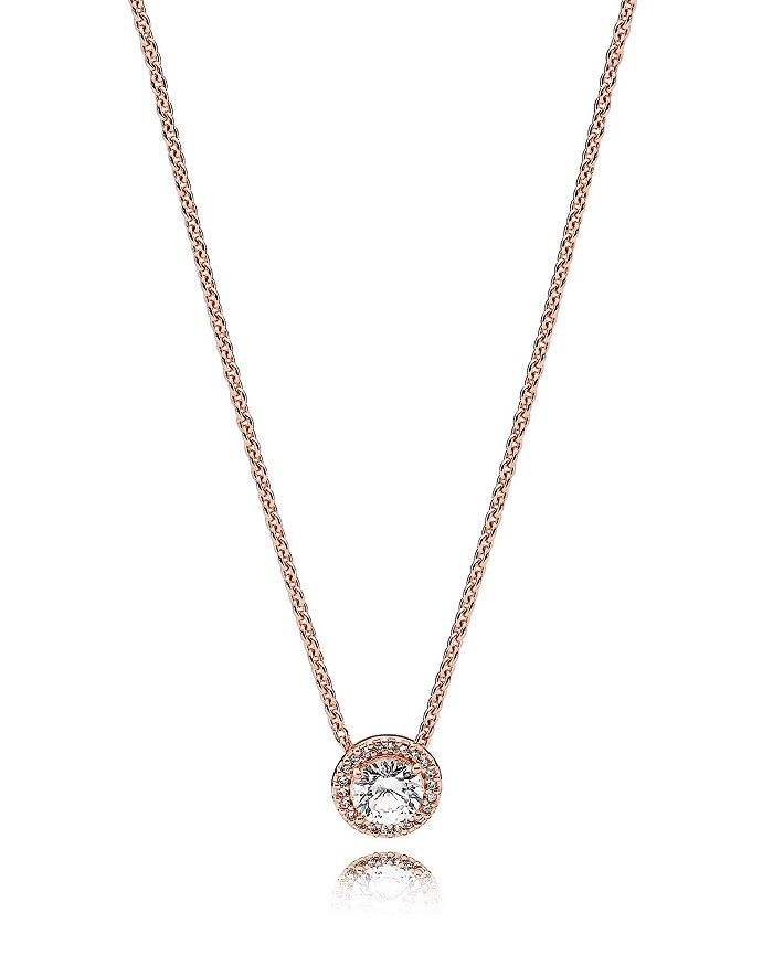 Pandora - Sterling Silver & Cubic Zirconia Classic Elegances Rose Necklace