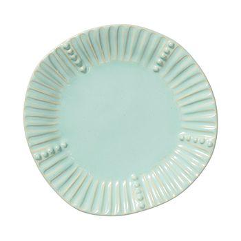 VIETRI - Incanto Stone Aqua Stripe Salad Plate