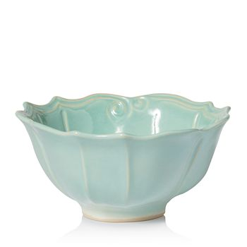 VIETRI - Incanto Stone Aqua Baroque Medium Serving Bowl