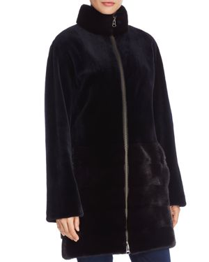 Maximilian Furs Sheared Mink Fur Coat - 100% Exclusive