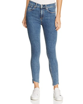 rag & bone/JEAN - Skinny Step-Hem Jeans in Clean Commodore