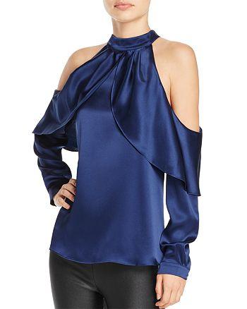 Parker - Sonelle Cold-Shoulder Silk Top
