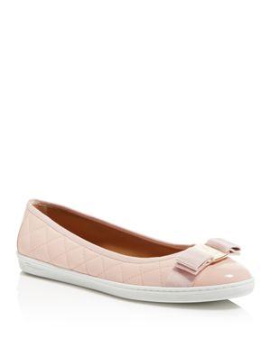 Women'S Rufina Quilted Cap Toe Leather Sneaker Flats, Bon Bon Pink