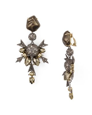 Alexis Bittar Baroque Pearly Crystal Statement Clip-On Earrings f3PNu8us