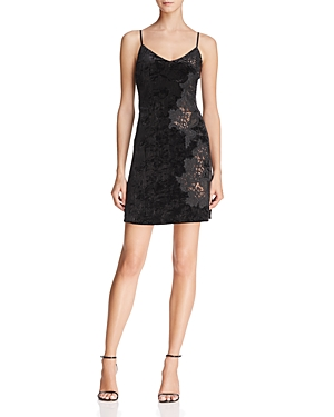 Bailey 44 Casting Couch Lace-Inset Velvet Slip Dress