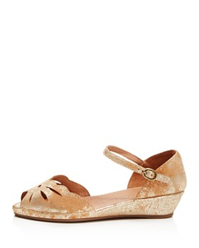 Gentle Souls by Kenneth Cole - Women's Lily Moon Leather Wedge Flats