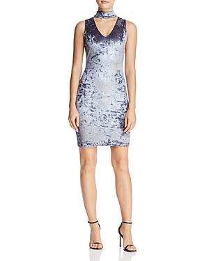 Aqua Cutout Crushed Velvet Dress - 100% Exclusive