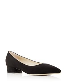 Giorgio Armani - Women's Suede Pointed Toe Low Heel Flats