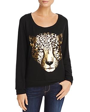 Aqua x Lauren Moshi Metallic Leopard Graphic Sweatshirt - 100% Exclusive