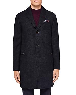 Ted Baker Nevada Herringbone Overcoat