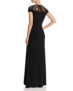 Adrianna Papell - Embellished Illusion-Yoke Gown