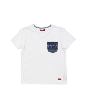 7 For All Mankind Boys' Denim-Pocket Tee - Little Kid