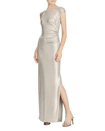 Ralph Lauren - Metallic Cowl-Back Gown