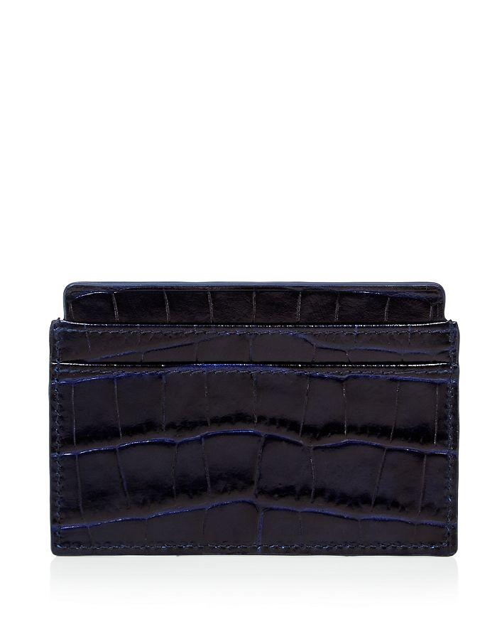 Smythson - Mara Printed Calf Leather Card Case