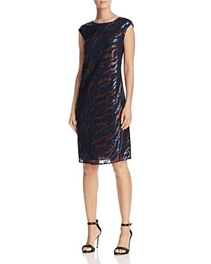 Nic+Zoe Dress Sequin Lace Shift Dress
