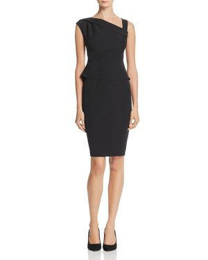 Adrianna Papell Asymmetric Crepe Sheath Dress 2762463