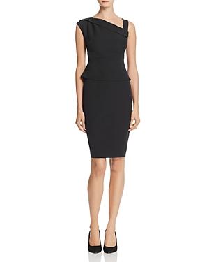 Adrianna Papell Asymmetric Crepe Sheath Dress