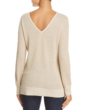 NYDJ - Metallic Double V-Neck Sweater
