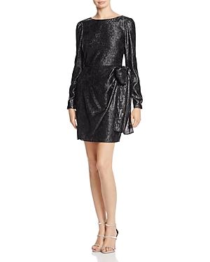 Michael Michael Kors Metallic Tie-Detail Wrap Dress