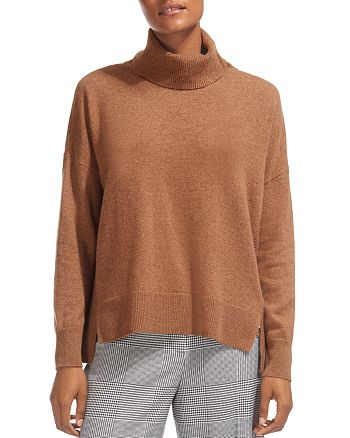 Whistles - Horizontal Ribbed-Knit Cashmere Turtleneck Sweater