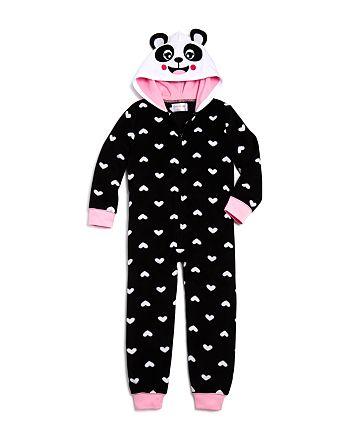 15211875956e US Angels - Girls  Fleece Panda One-Piece Pajamas - Little Kid